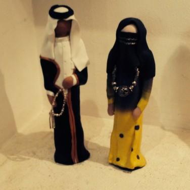 statues de couple de Saoudiens