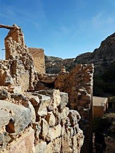 le village abandonné sur le plateau de Sayq dans le wadi Bain Habib - Oman
