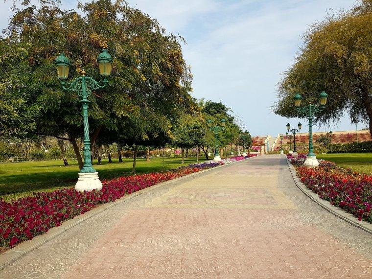 Qrum parc à Mascate, Oman - elle a 40 ans
